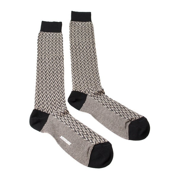 Missoni GM00CMU5240 0004 Gray/Black Knee Length Socks - Grey