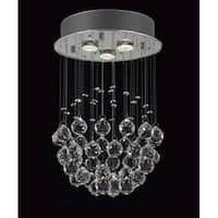 Modern Crystal Ball Chandelier Raindrop 3 Light Lighting Fixture