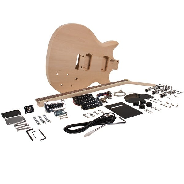 Seismic Audio Premium PRS Style DIY Electric Guitar Kit - Unfinished Luthier Project Kit