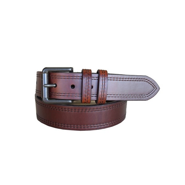 Lejon Western Belt Mens Double Haul Leather T Moro