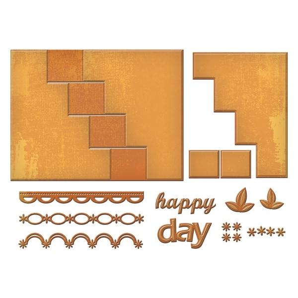 Spellbinders Card Creator Step Card-Happy Days