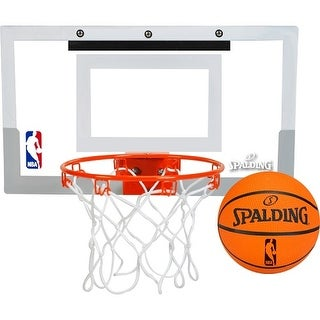 Spalding NBA Slam Jam Over-The-Door Mini Basketball Hoop Set