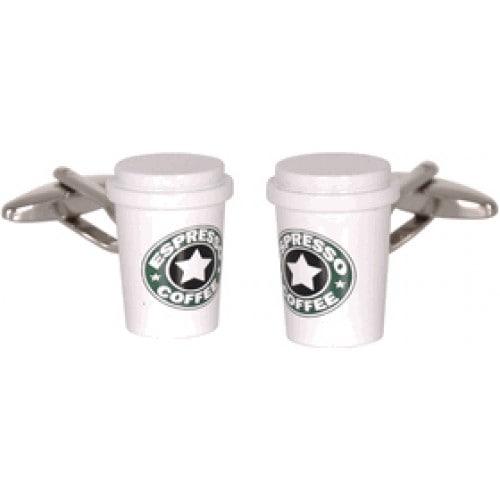 Coffee Espresso Java Lover Caffeine Coffeehouse Starbucks Resemblance Cufflinks