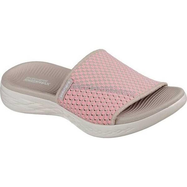 a1b3e7649905 Shop Skechers Women s On the GO 600 Nitto Slide Sandal Natural Pink ...