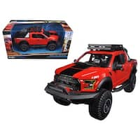 2017 Ford F-150 Raptor Pickup Truck Red Off Road Kings 1/24 Diecast Model Car  by Maisto