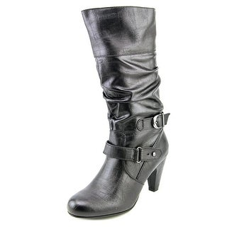 Rialto Georgetown Women Pointed Toe Synthetic Black Mid Calf Boot