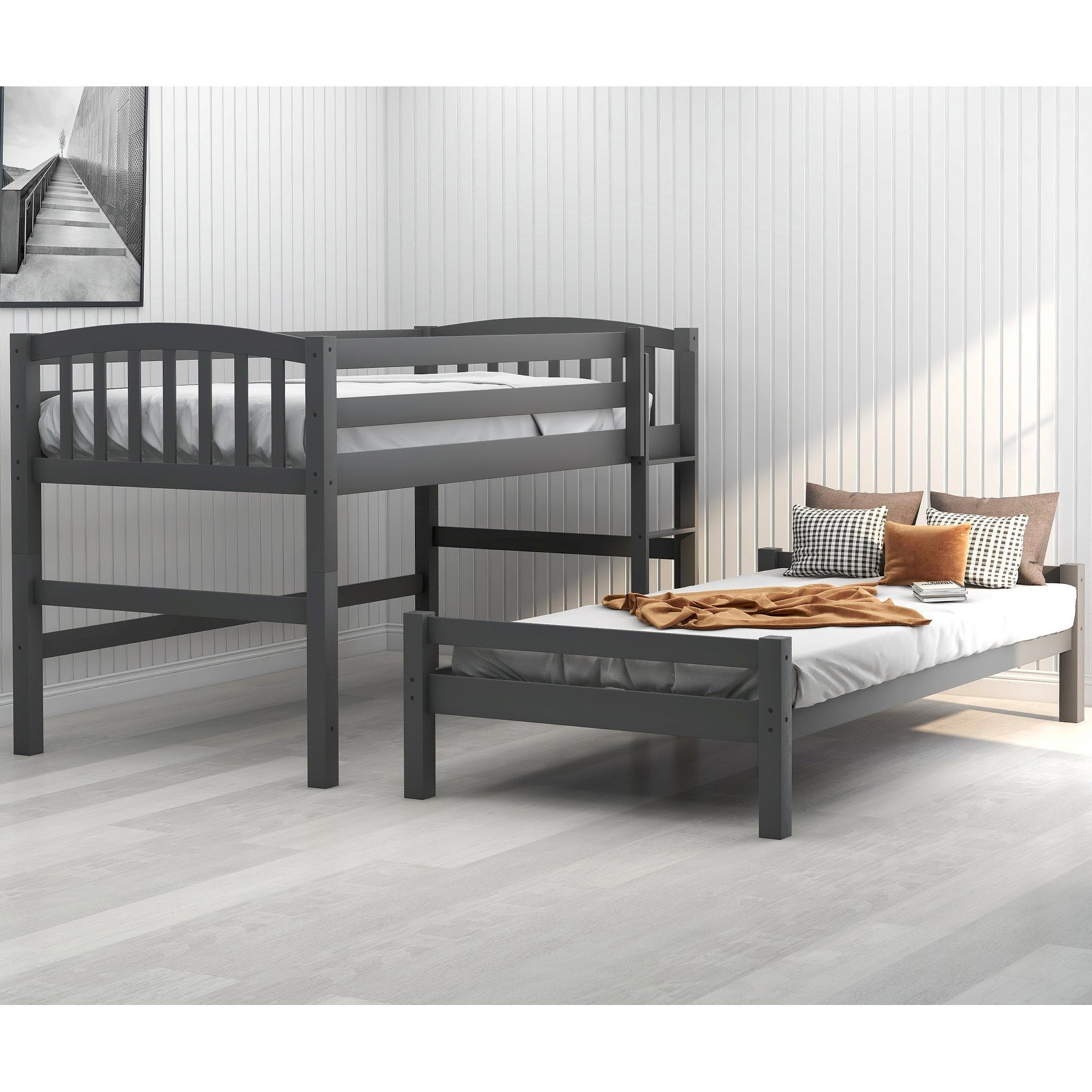 Twin Binne Over Bunk Loft Bed Overstock 32181294