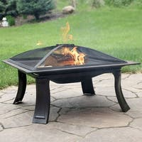 Sunnydaze Square Campfire On-The-Go Fire Pit with Spark Screen and Carrying Case