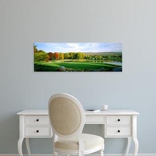 Easy Art Prints Panoramic Image 'Golf course, Penn National Golf Club, Fayetteville, Franklin, Pennsylvania' Canvas Art