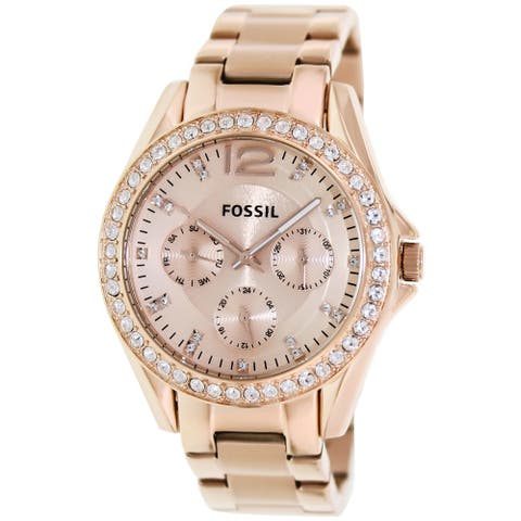 Fossil Women's Riley Rose-Gold Stainless-Steel Fashion Watch