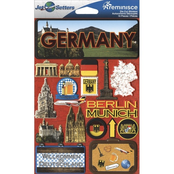 Jet Setters Dimensional Stickers-Germany