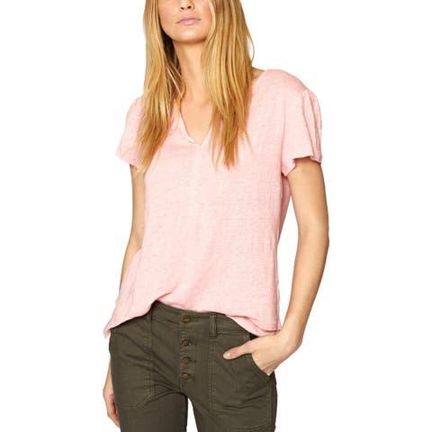 Sanctuary Womens T-Shirt Linen Layered