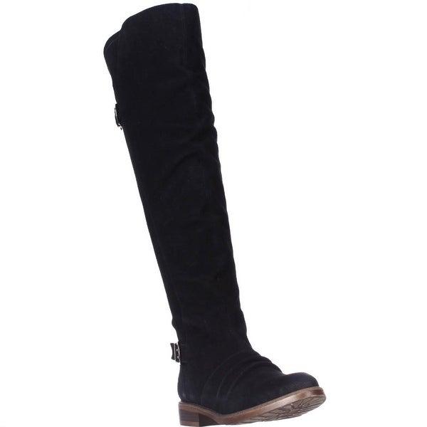 Kensie Stella Over-The-Knee Boots, Black Suede