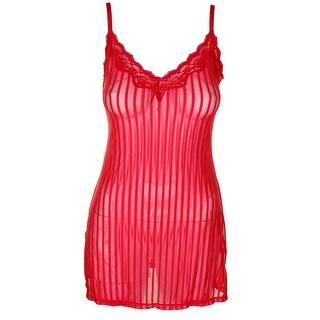 Heidi By Heidi Klum Ribbon Red Adjustable Strap Mesh Full Slip S