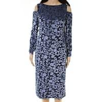 Maggy London Women's Cold Shoulder Long Sleeve Sheath Dress