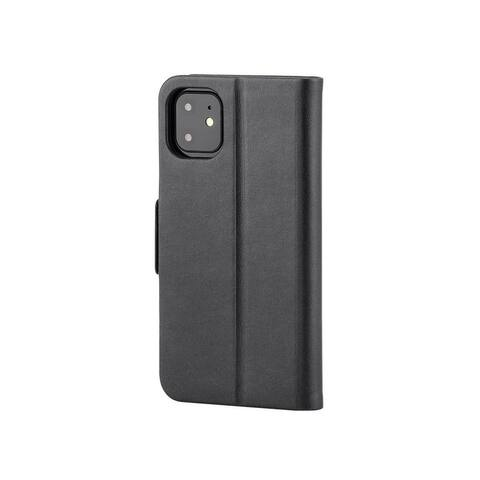 Monoprice iPhone 11 PU Leather Wallet Case - Black, With Built-In Card Slots