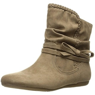 Report Womens Elora Faux Suede Slouchy Booties