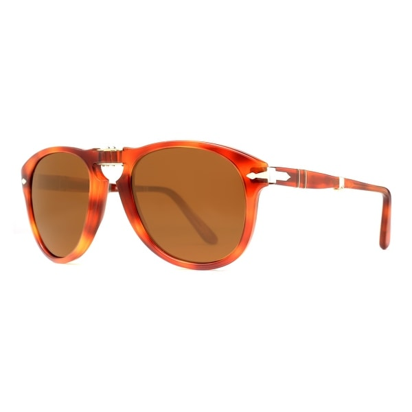 Persol PO 714 96/33 54mm Terra di Siena Light Havana Brown Folding Sunglasses - light havana brown - 54mm-20mm-135mm