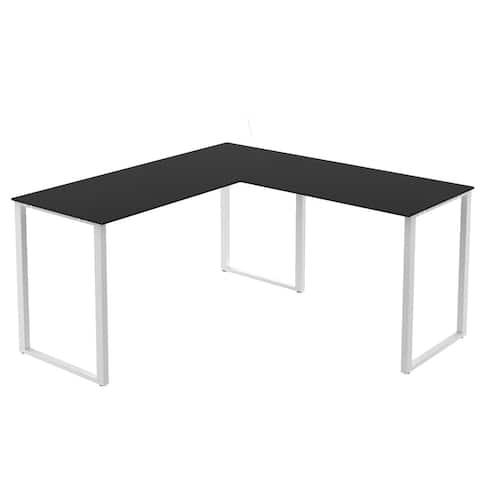 Clihome L-shape computer desk