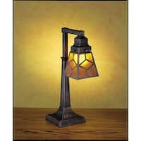 Meyda Tiffany 27881 Craftsman / Mission Accent Table Lamp from the Mica Missions Collection - n/a