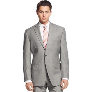 Calvin Klein CK Slim Fit Grey Sharkskin Wool Sportcoat Blazer 38 Regular 38R