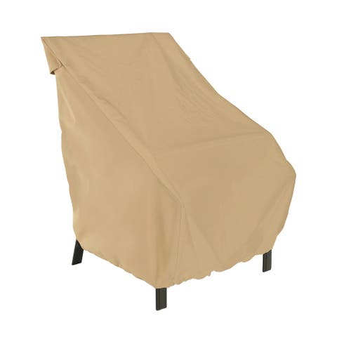 Classic Accessories Terrazzo Water-Resistant 26 Inch High Back Patio Chair Cover