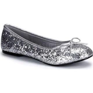 Funtasma Women's Star 16G Silver Glitter
