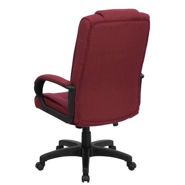 Terrific Shop Aberdeen High Back Burgundy Fabric Executive Swivel Pdpeps Interior Chair Design Pdpepsorg