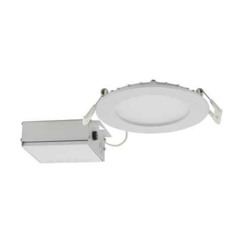 10 Watt LED Direct Wire Downlight Edge-lit 4 in. CCT Selectable 120V Dimmable Round Remote Driver