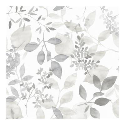 Grey Breezy Peel & Stick Wallpaper - 216in x 20.5in x 0.025in