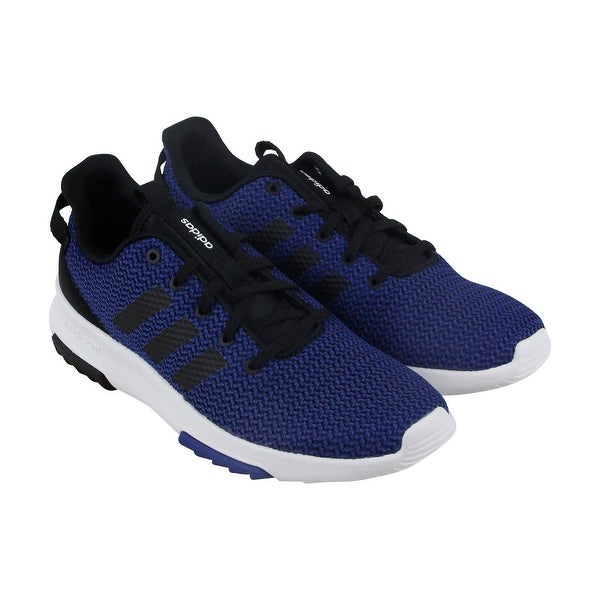 Adidas Cf Racer Tr Mens Blue Mesh Athletic Lace Up Running Shoes