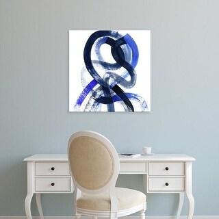 Easy Art Prints Grace Popp's 'Blue Kinesis V' Premium Canvas Art