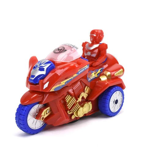WonderPlay BO Transformable Motorcycle with Light & Music - Red