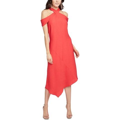 Rachel Rachel Roy Womens Midi Dress Cold Shoulder Asymmetric