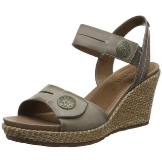 Cobb Hill Womens Molly Leather Embellished Wedges - 10 medium (b,m)