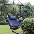 Sunnydaze Hanging Hammock Chair & Hammock Stand Combo W/ Pillow & Drink Holder - Thumbnail 8