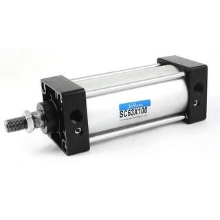 Unique Bargains 63mm Bore 100mm Stroke Tie Rod Pneumatic Air Cylinder