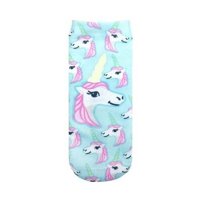 Living Royal Glow In the Dark Ankle Socks: Pastel Unicorn - Multi
