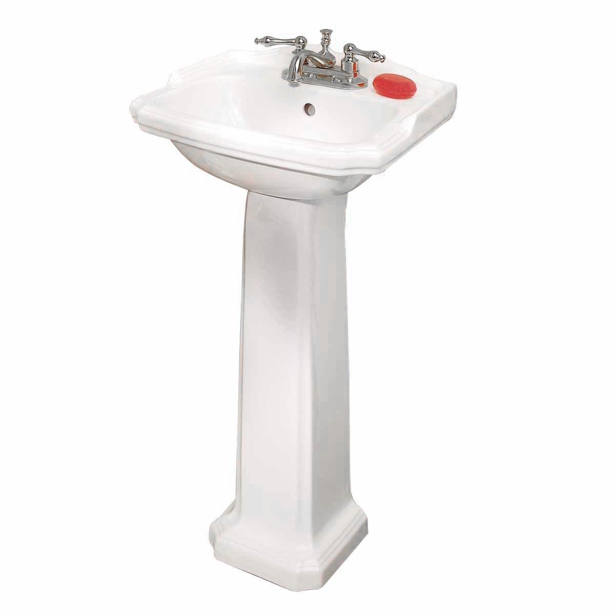 Small White Vitreous China Pedestal