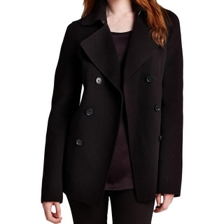 Vince Womens Pea Coat Wool Double-Breasted - M