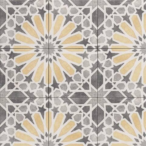 The Tile Life Garden Sunflower 8x8 Porcelain Patterned Tile