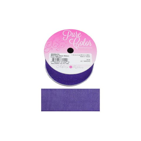"Morex Ribbon Sugar Sheer 1.5""x 4yd Purple"
