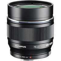 """Olympus V311040BU000 Olympus M.ZUIKO DIGITAL 75 mm f/1.8 Telephoto Lens for Micro Four Thirds - 58 mm Attachment - 0.10x"