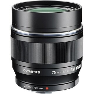 """Olympus V311040BU000 Olympus M.ZUIKO DIGITAL 75 mm f/1.8 Telephoto Lens for Micro Four Thirds - 58 mm Attachment - 0.10x"