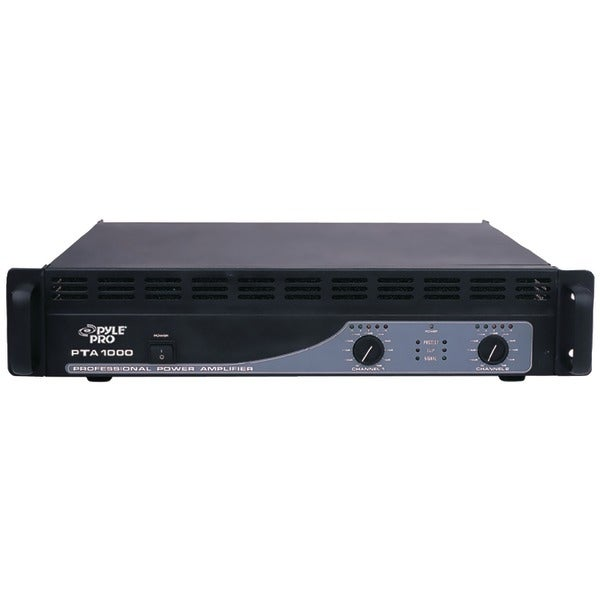 shop pyle pro pta1000 professional power amp 1 000 watt free shipping today overstock. Black Bedroom Furniture Sets. Home Design Ideas