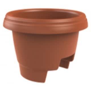 "Fiskars Pottery 477121-1001 Deck Rail Planter, 12"", Clay"