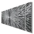 Statements2000 Silver Abstract Modern Metal Wall Art Panels Sculpture by Jon Allen - Vortex - Thumbnail 6