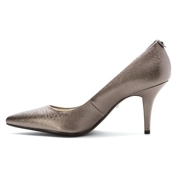MICHAEL Michael Kors Womens Flex Leather Pointed Toe Classic Pumps