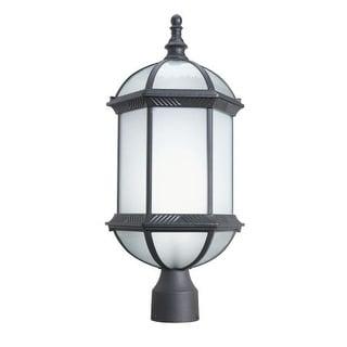 Woodbridge Lighting 61035WL-BKP Glenwood 1 Light Energy Saving Post Light with Powder Coat Black Finish