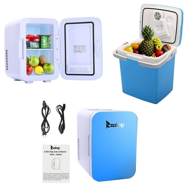 ZOKOP 6L/26L Electric Mini Portable Fridge Cooler AC/DC Portable Thermoelectric System 2Colors. Opens flyout.